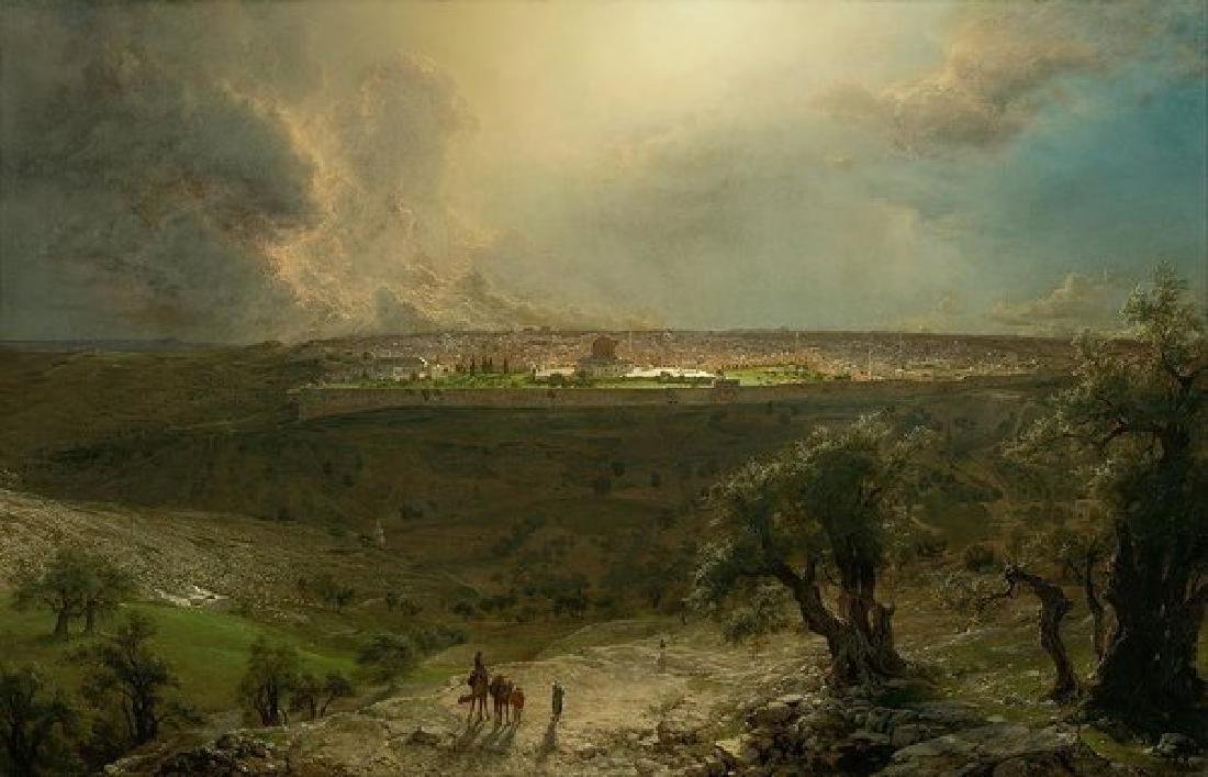 Jerusalem View From The Mount Of Olives Oil Painting on