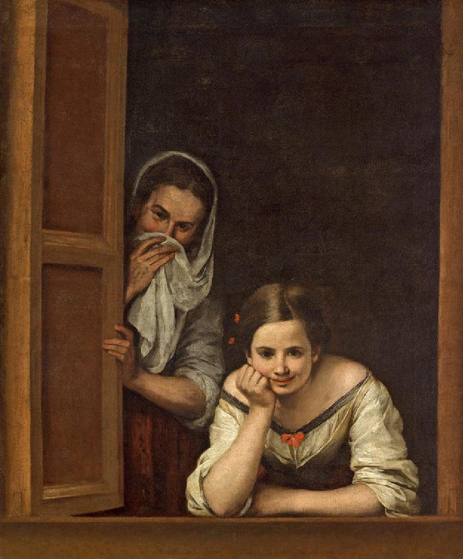 Women From Galicia At The Window Oil Painting on Canvas