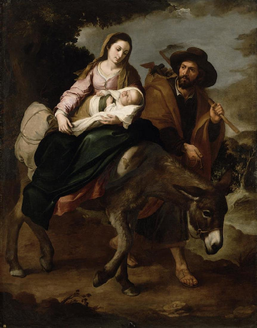 The Flight Into Egypt Oil Painting on Canvas