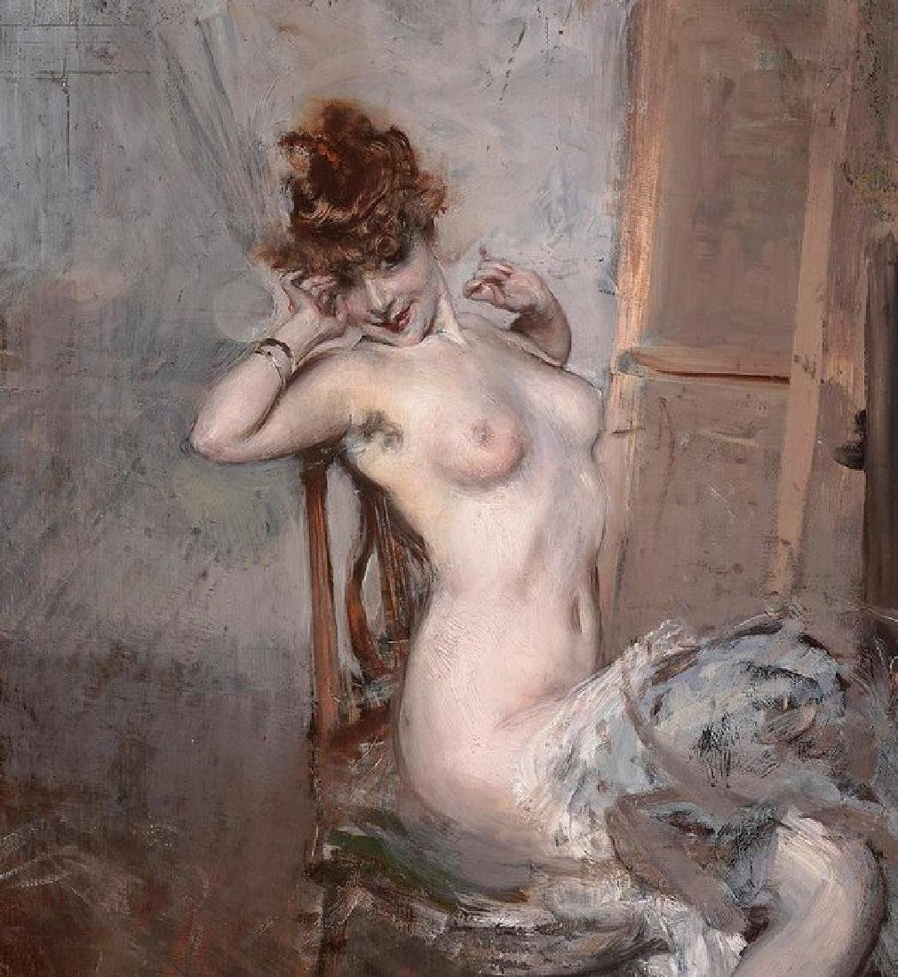 Naked Woman Sitting Oil Painting on Canvas