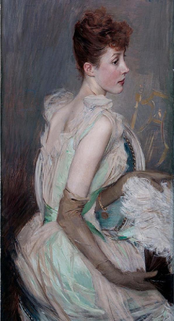 Portrait Of The Countess De Leusse Oil Painting on