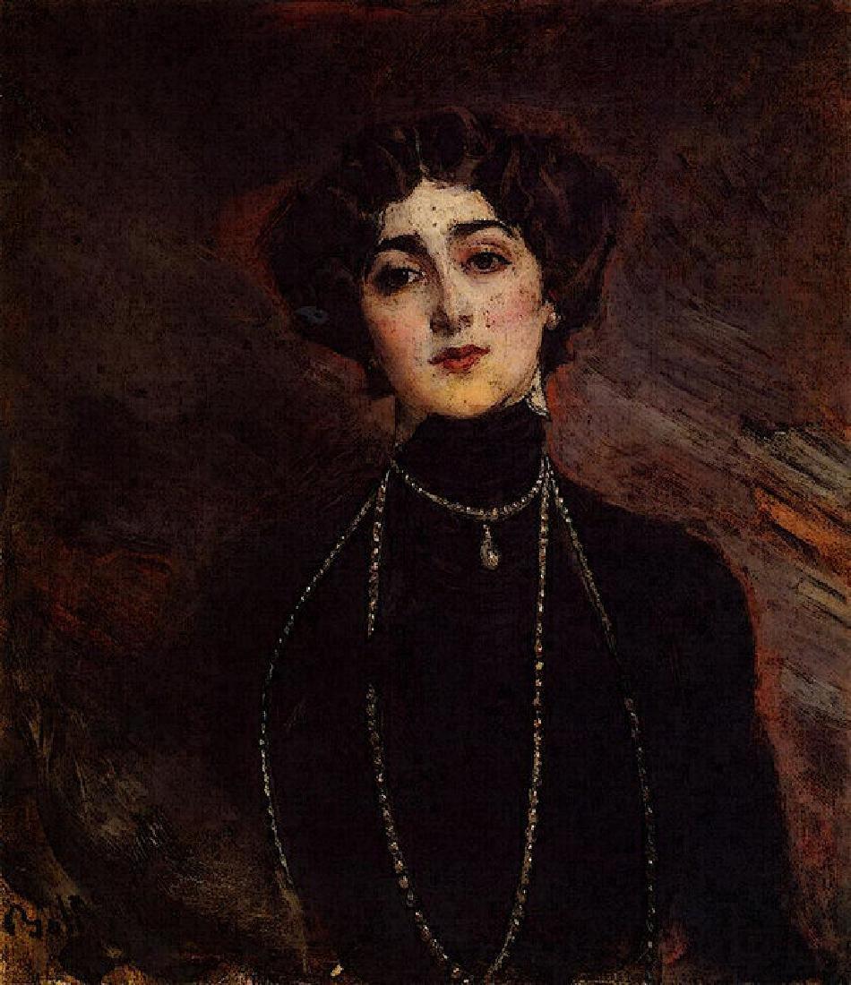 Boldini Giovanni Portrait Of Lina Cavalieri Oil