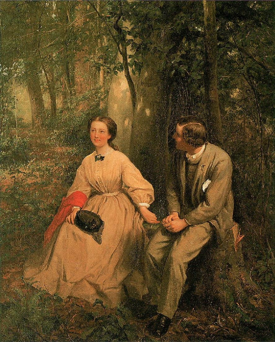 The Courtship Oil Painting on Canvas