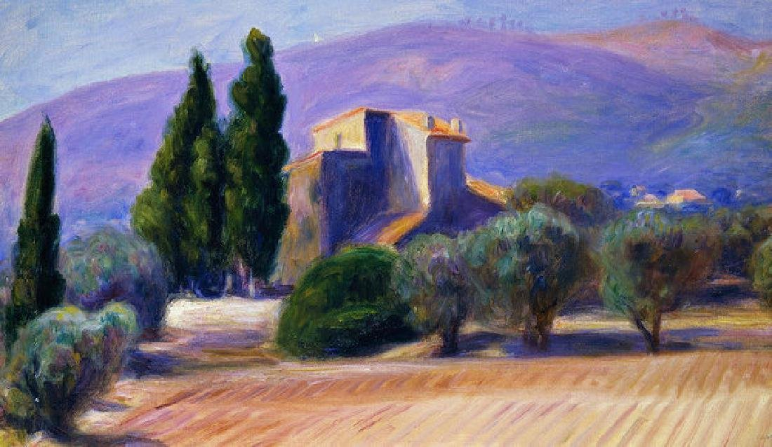 Farm House In Provence Oil Painting on Canvas