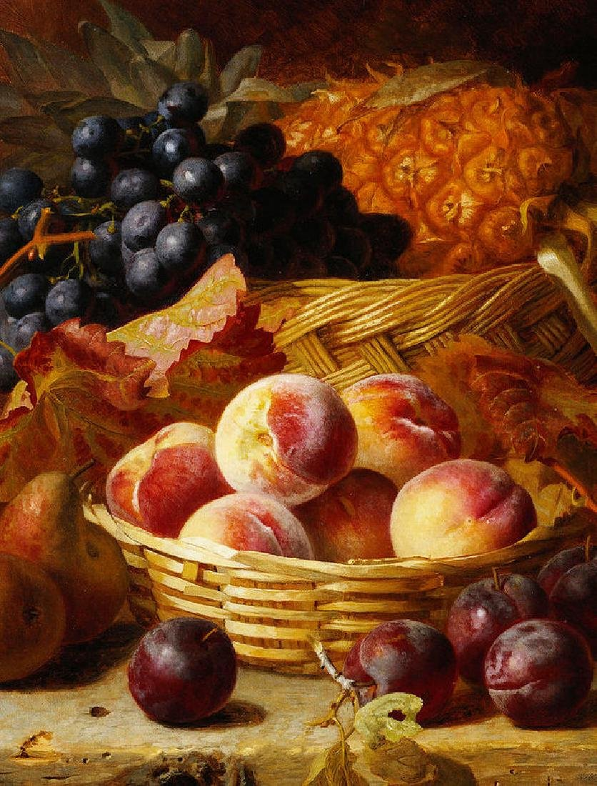 Peaches, Plums, Pears And Pineapple Oil Painting on