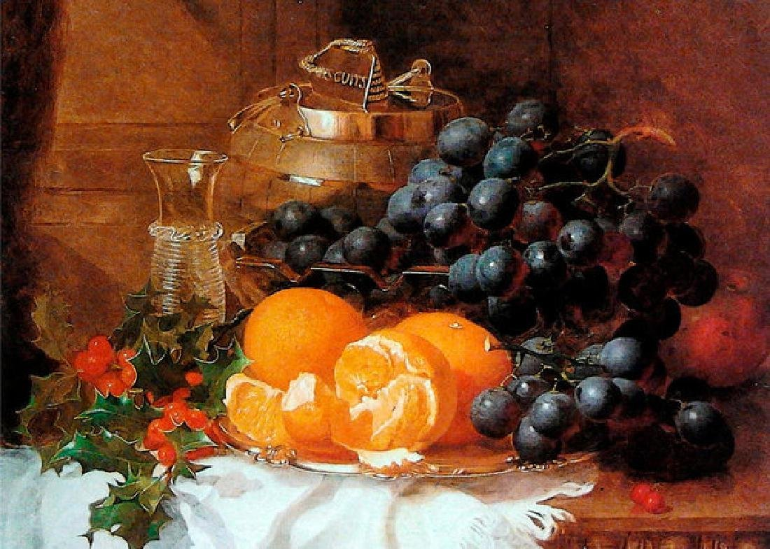 Christmas Still Life Of Eloise Harriet Stannard Oil