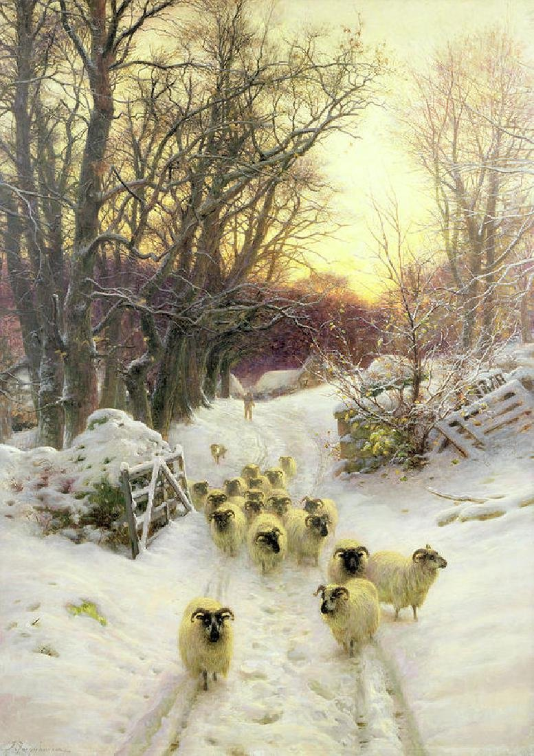 The Sun Had Closed The Winter's Day Oil Painting on
