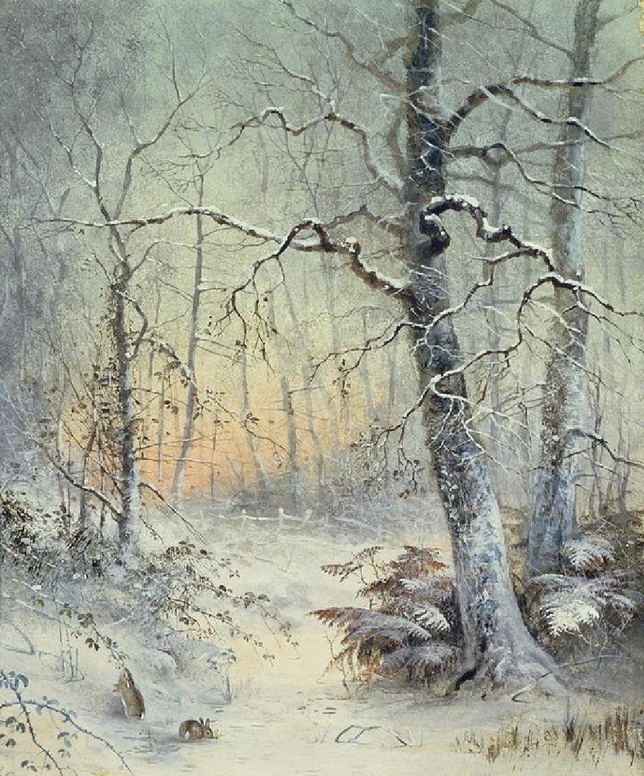 Winter Breakfast Oil Painting on Canvas