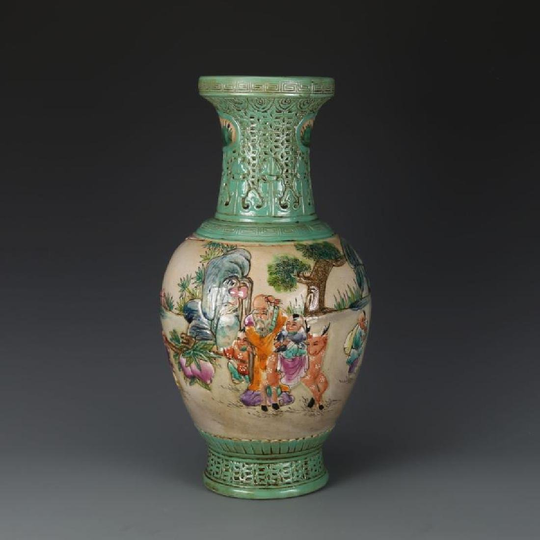 Chinese Qing Dynasty Qianlong Time Green Glaze