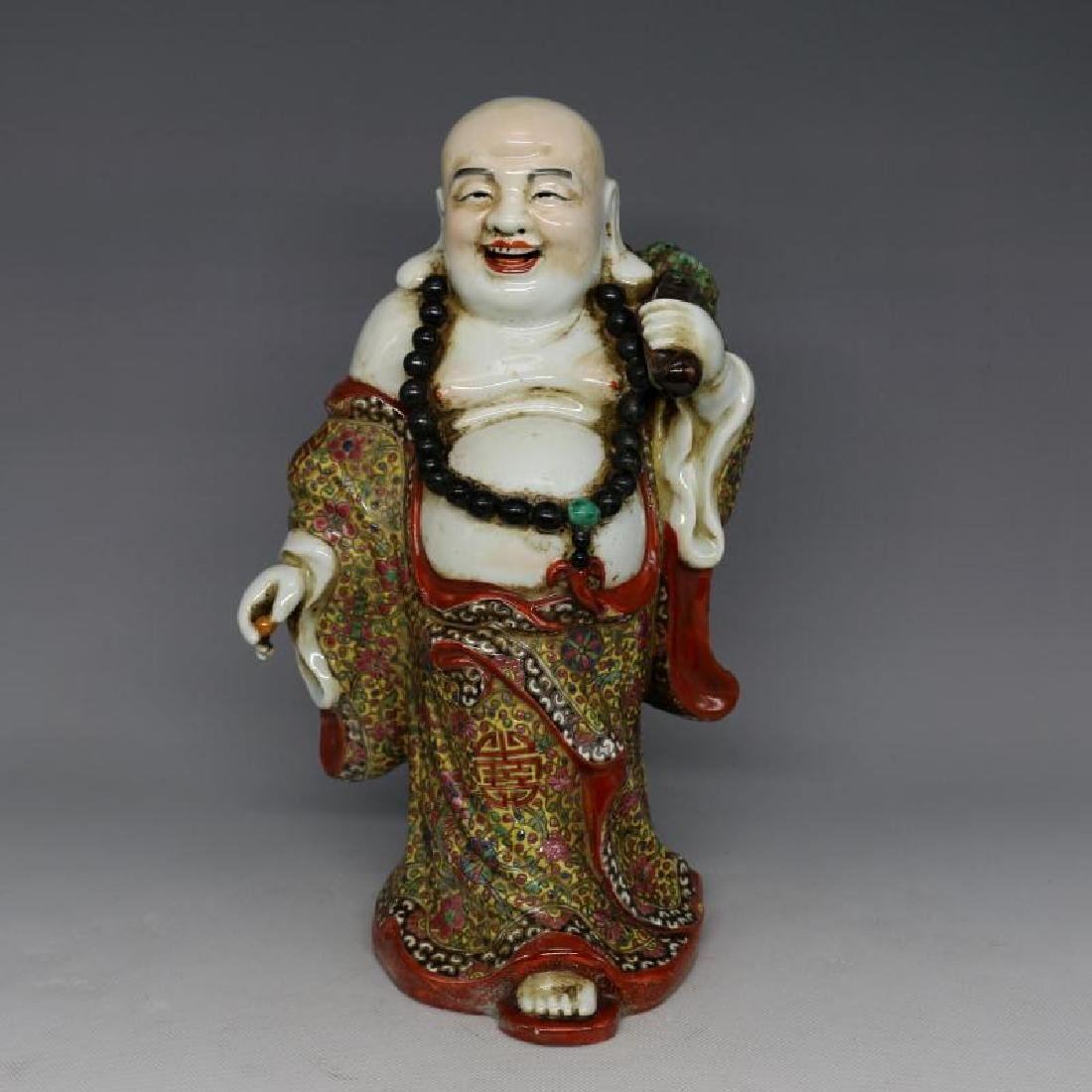 Chinese Republic Of China Famille-Rose Porcelain Monk