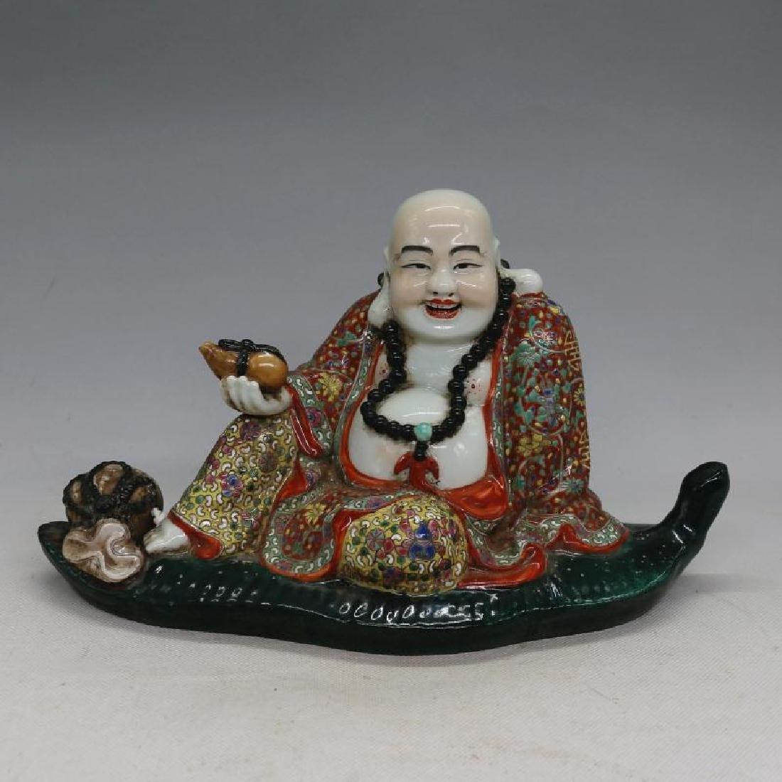Chinese Republic Of China Famille-Rose Porcelain Buddha