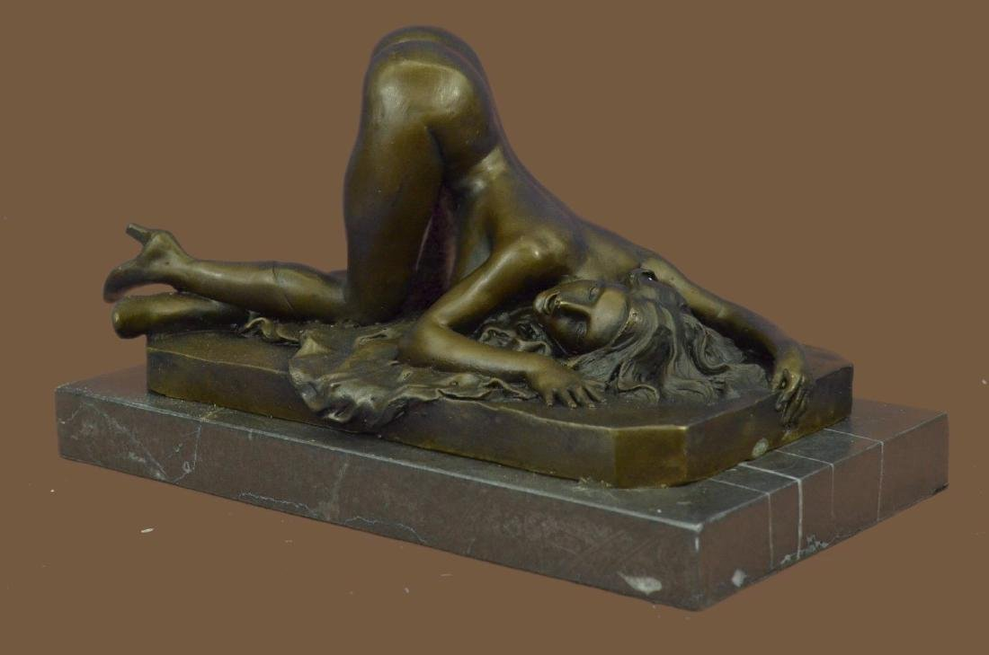 Adult Art Deco Bronze Erotic Nude Girl Bronze Sculpture