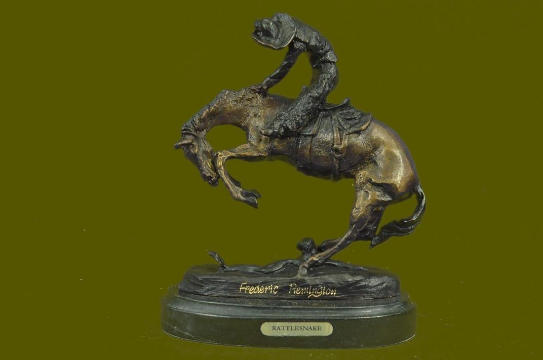 100% Figure Remington cowboy w/Horse Rattlesnakes