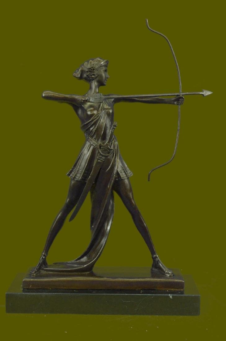 ART DECO BRONZE FIGURE DIANA GODDESS OF THE HUNT FROM