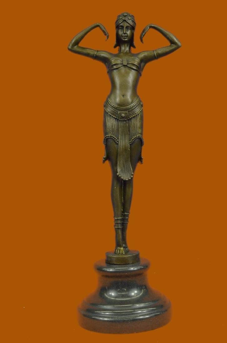 EXOTIC DANCER CHIPARUS BRONZE ART DECO NOUVEAU HOT CAST