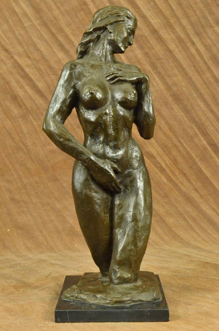 Fine Vintage Female Bronze Nude Torso Sculpture