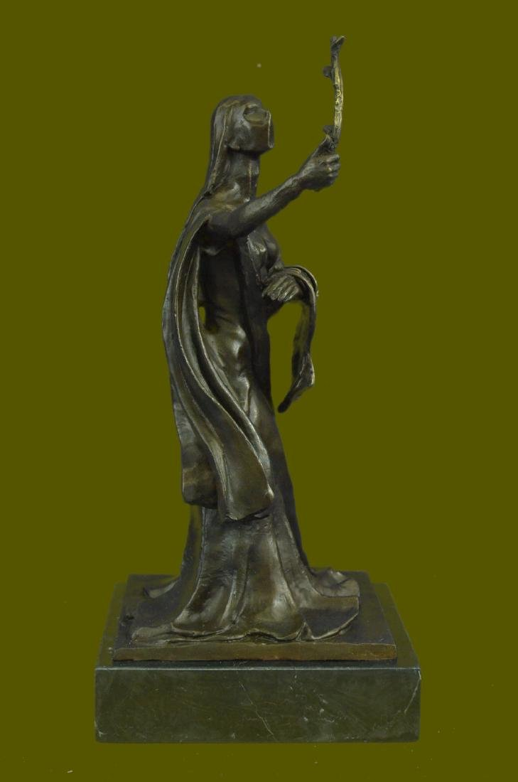Abstract Modern Art Woman of Time Bronze Sculpture