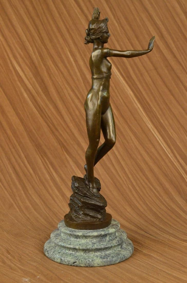 Signed French Jean Patoue Art Deco Original Nude Dancer
