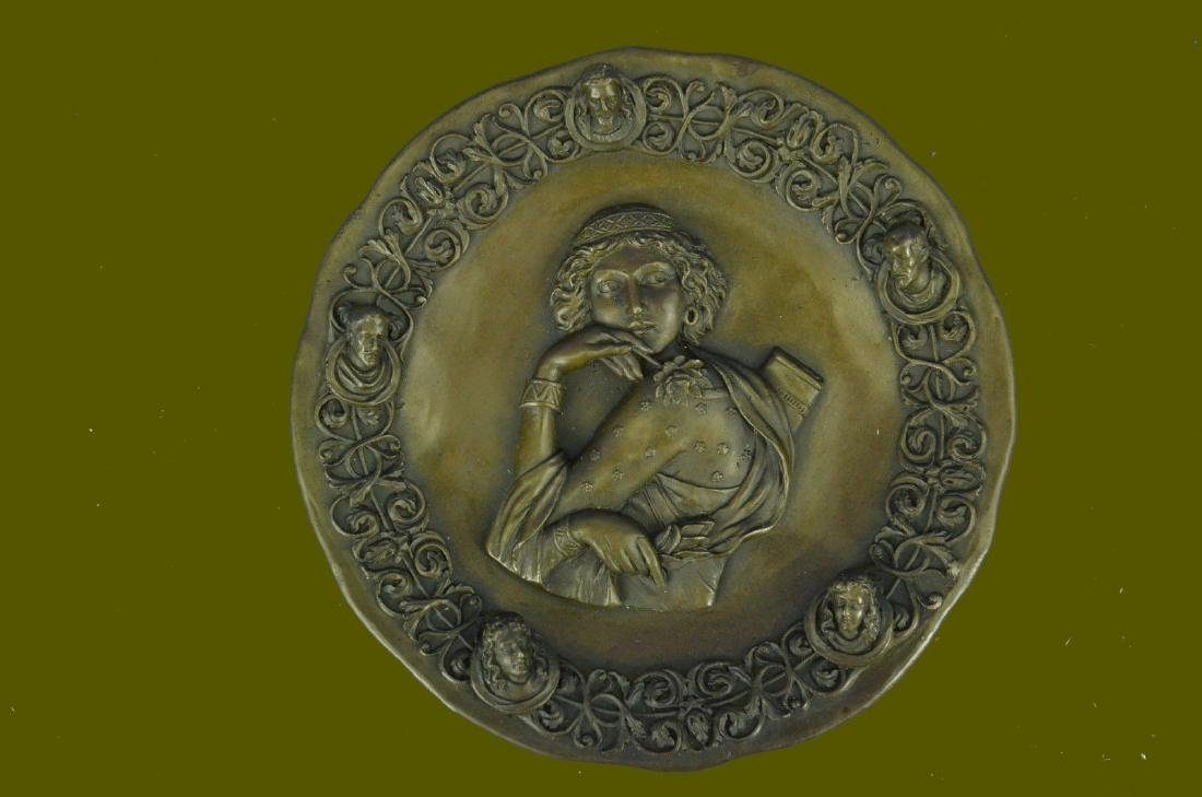 Fine Rare French Bronze Statue Bas Relief Sculpture