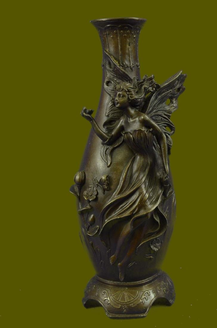 Fairy Angel Bronze Vase Figural Sculpture by Milo Hot