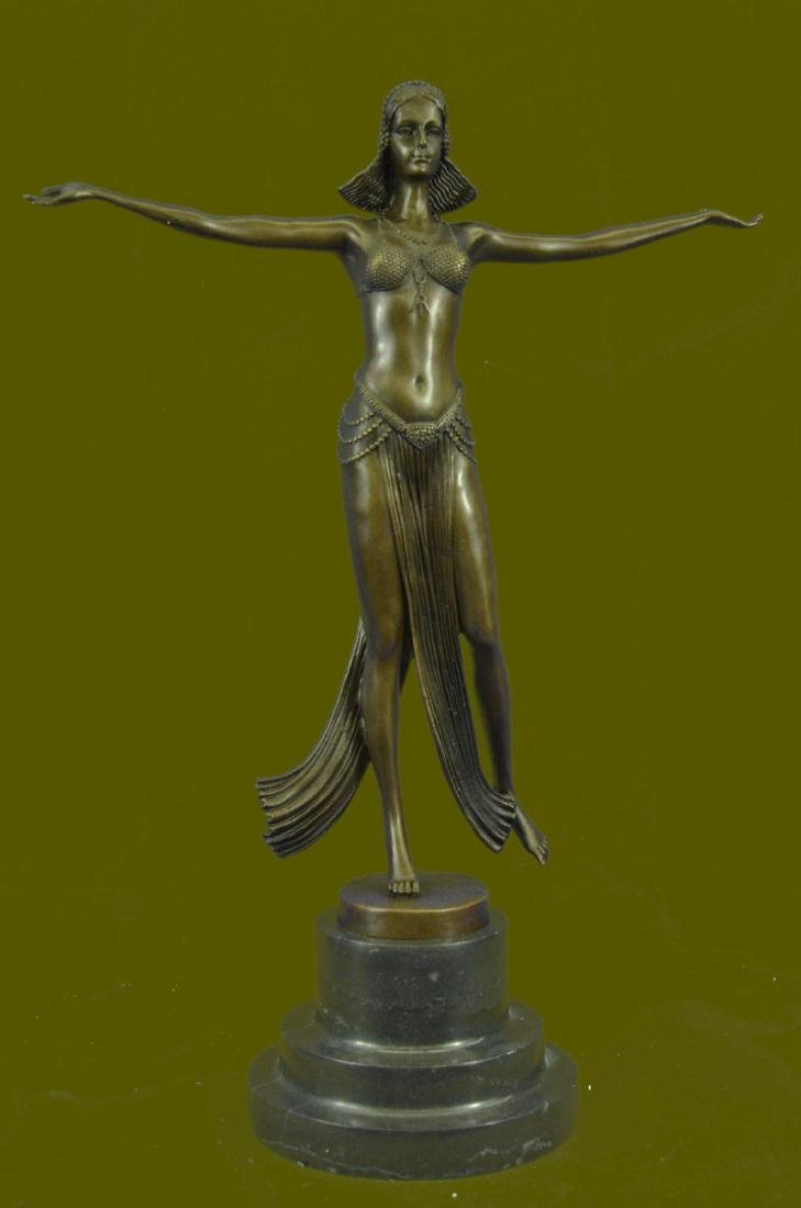 Classic Vintage Nude Woman Female Dancer Bronze Marble