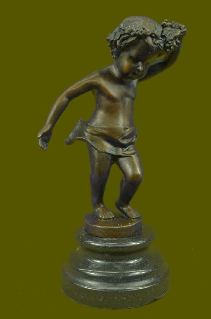 COLLECTIBLE BRONZE SCULPTURE STATUE Children Boy