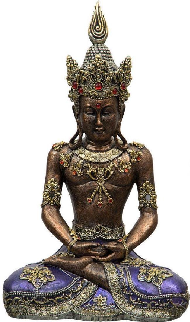 Meditating Buddha Statue with Crown!