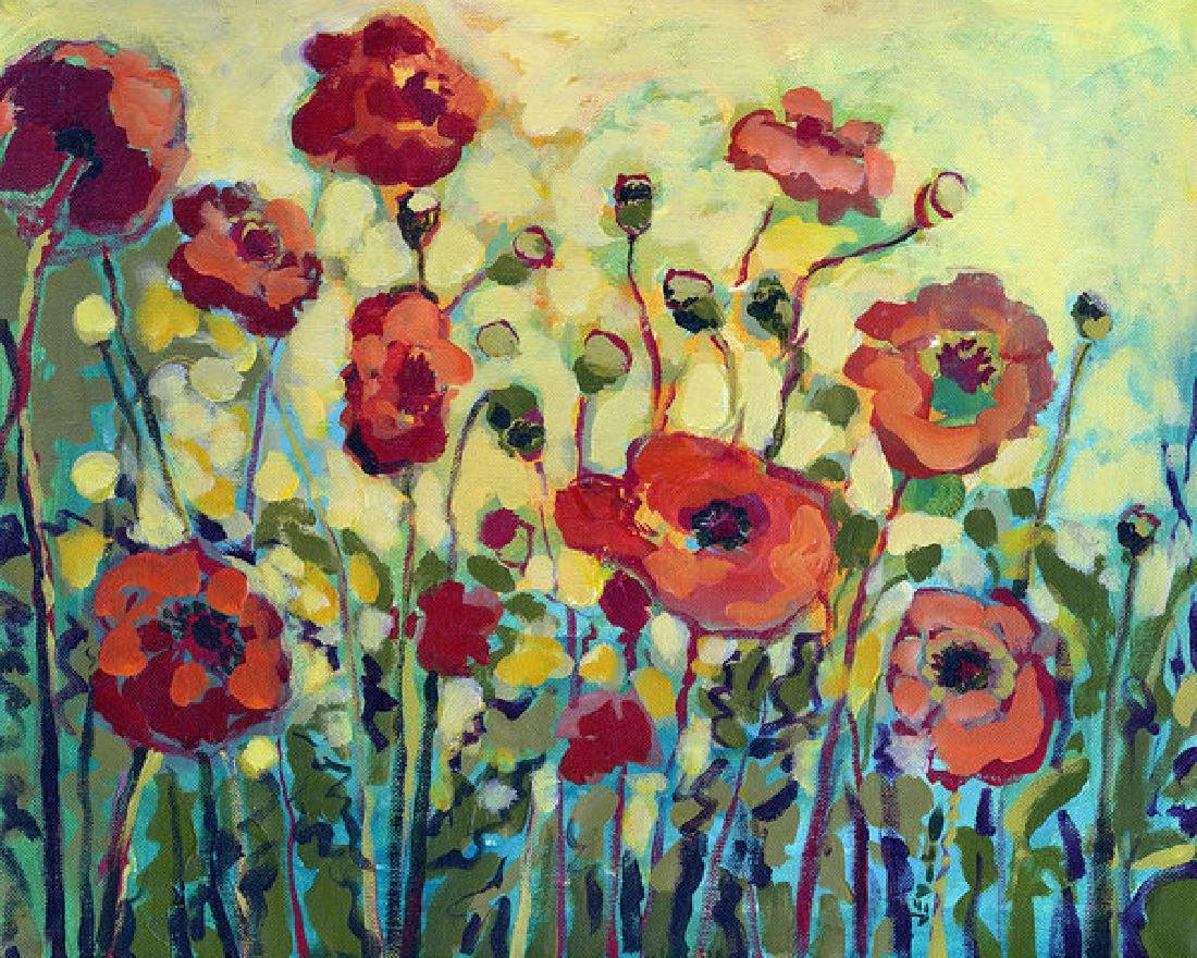 Anitas Poppies Oil Painting