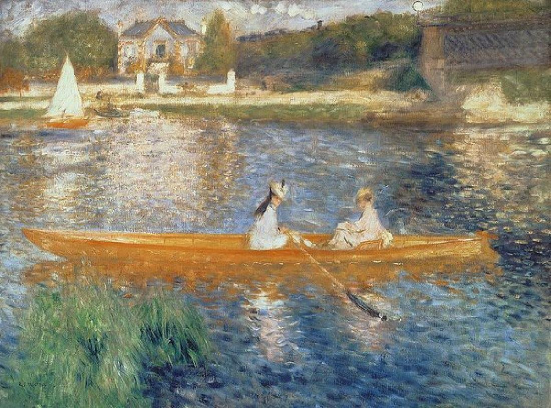Boating On The Seine Oil Painting