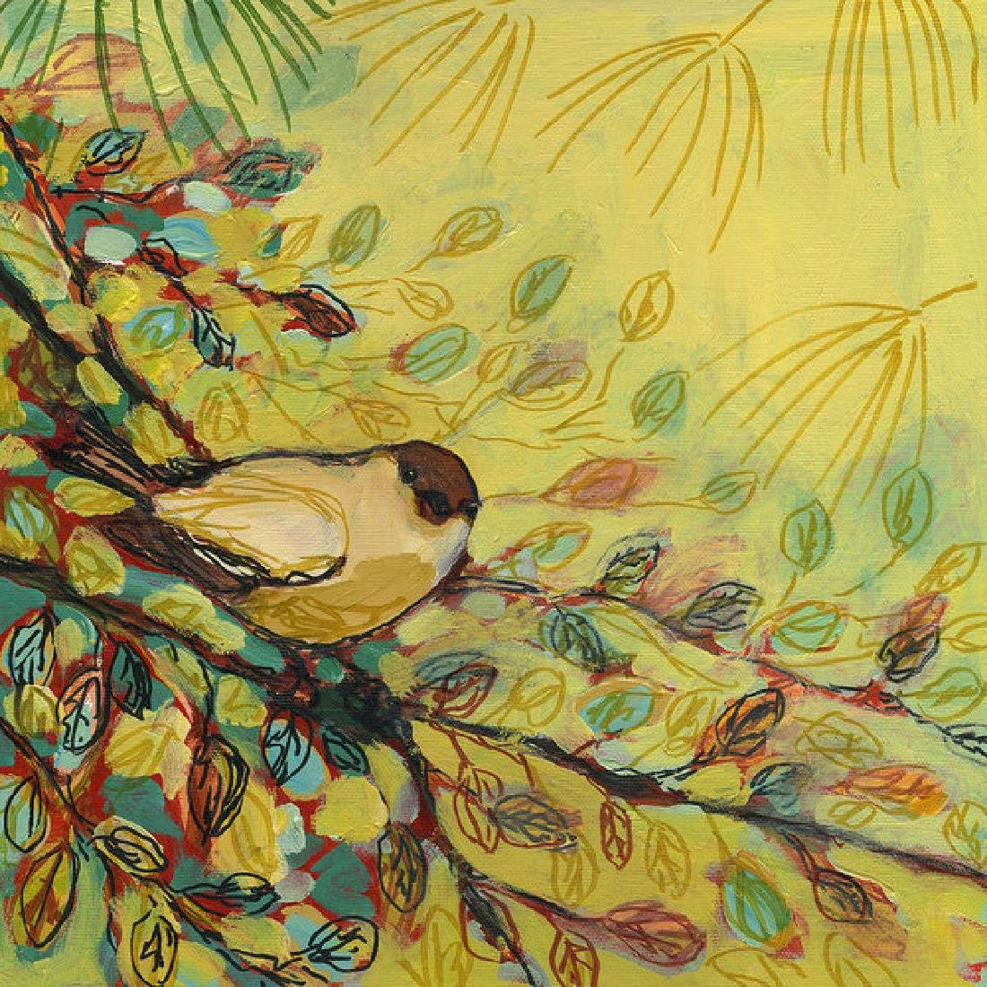 Goldfinch Waiting Oil Painting