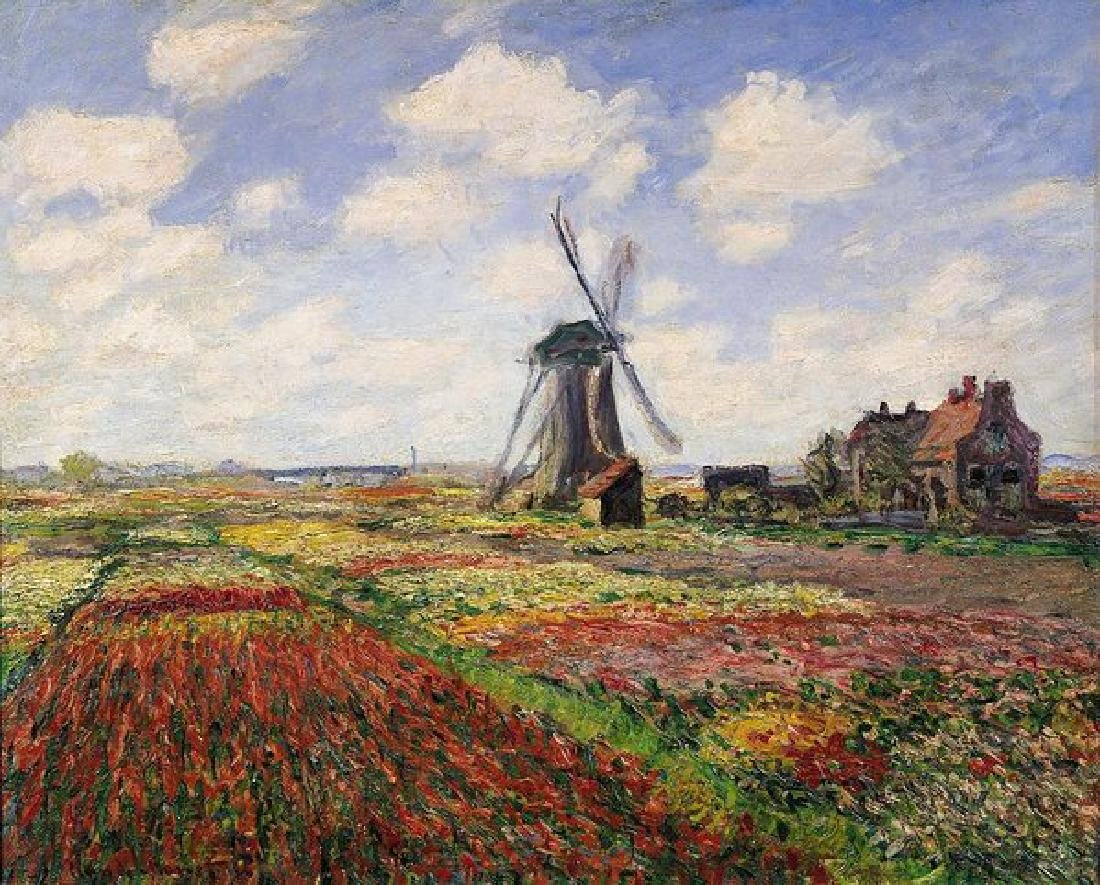 Tulip Fields With The Rijnsburg Windmill Oil Painting
