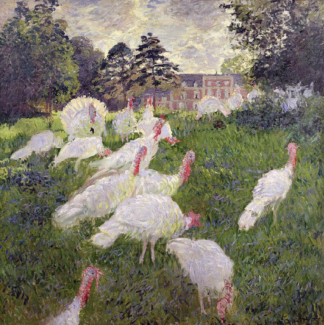 The Turkeys At The Chateau De Rottembourg Oil Painting