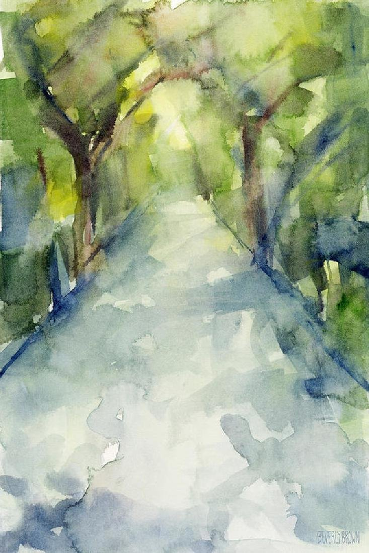 Path Conservatory Garden Central Park Watercolor