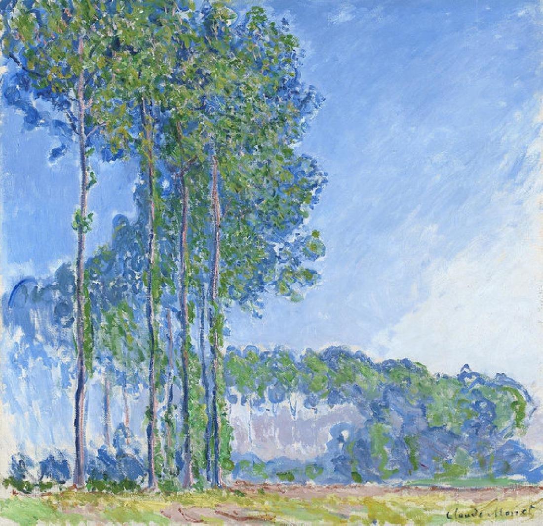 Poplars Oil Painting