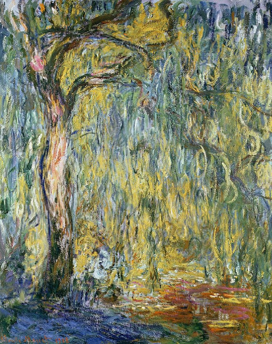 The Large Willow At Giverny Oil Painting