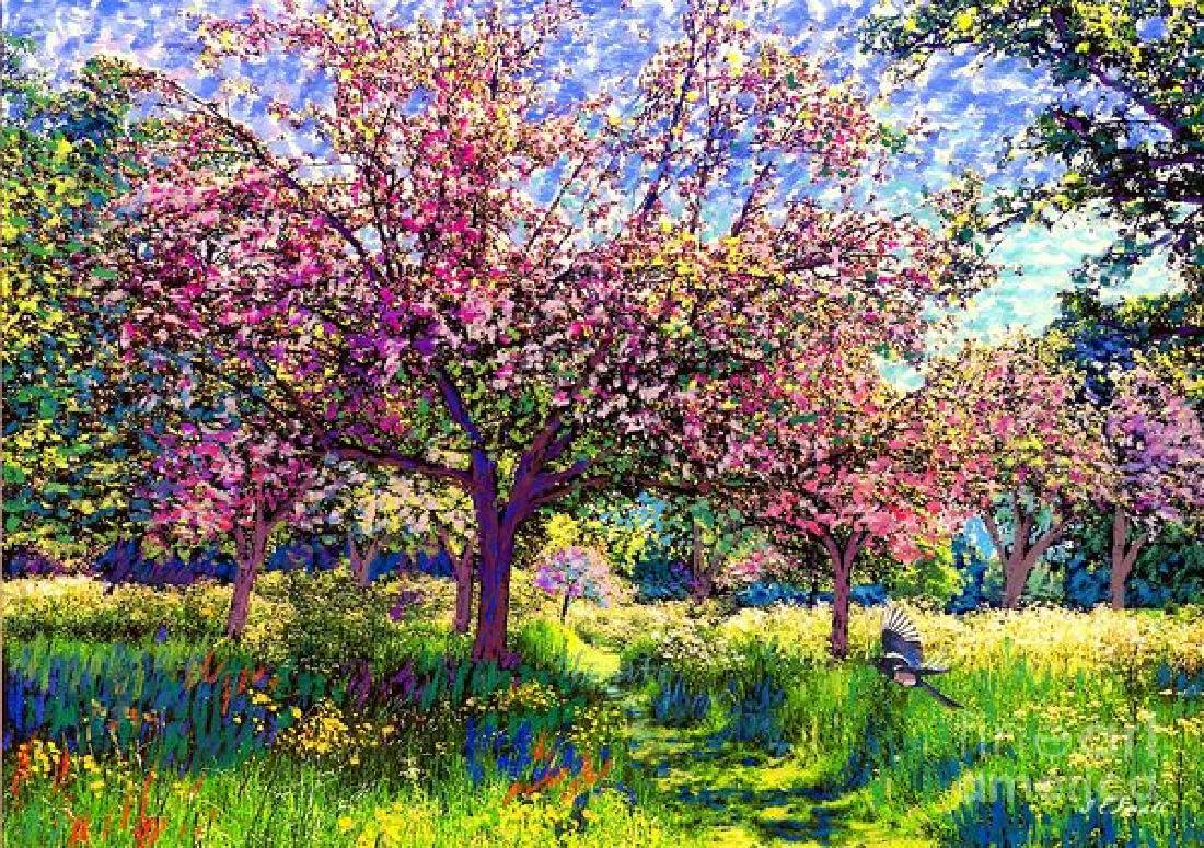 In Love With Spring, Blossom Trees Oil Painting