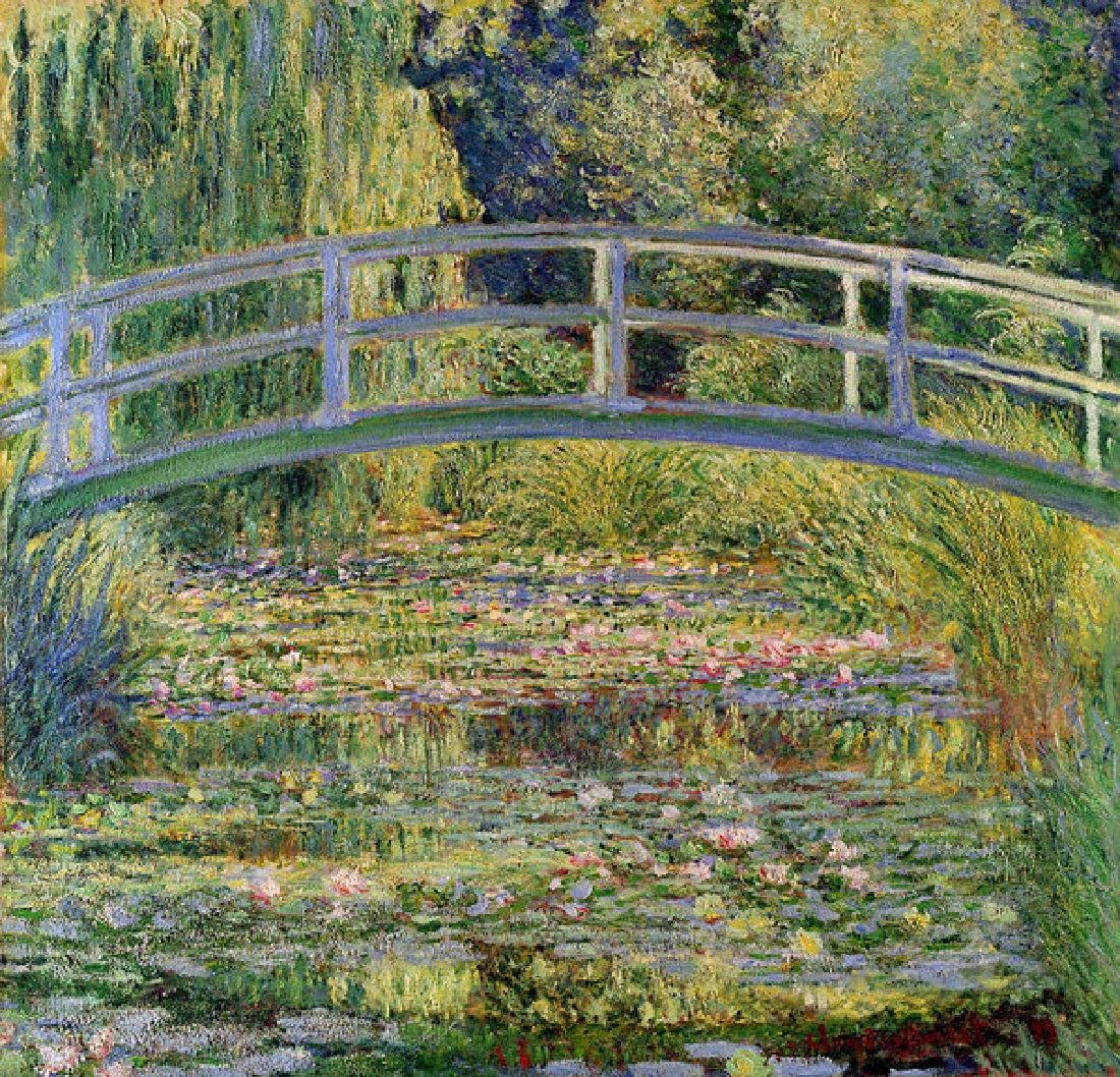 The Waterlily Pond With The Japanese Bridge Oil
