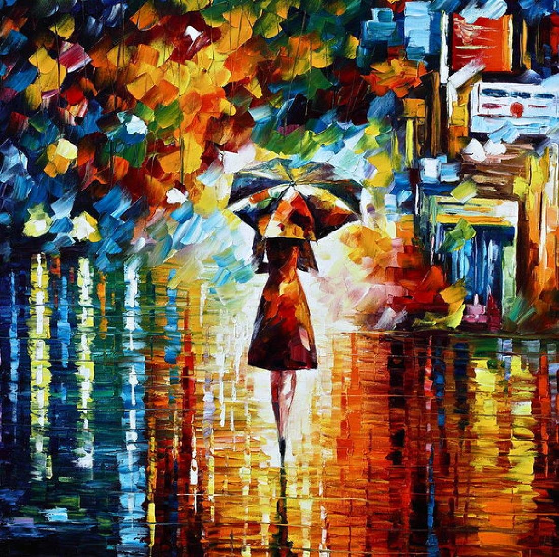 Rain Princess - Palette Knife Landscape Oil Painting On