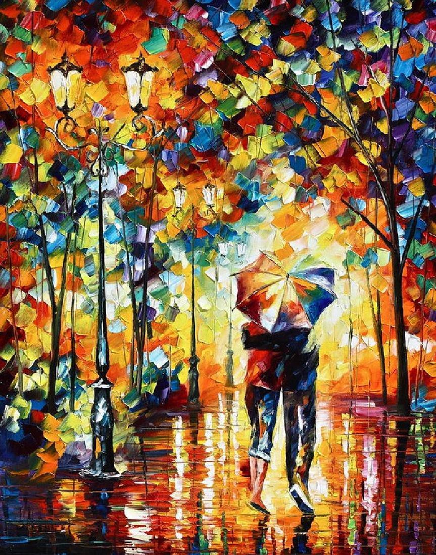 Under One Umbrella Oil Painting