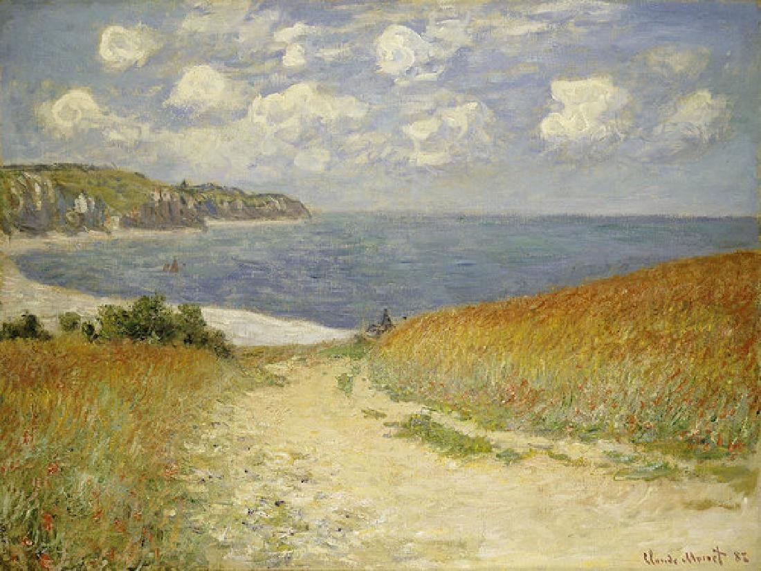 Path In The Wheat At Pourville Oil Painting