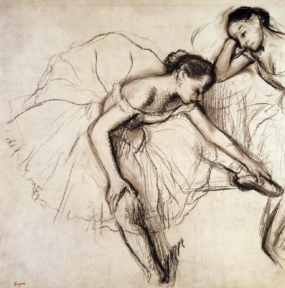 Two Dancers Resting Oil Painting