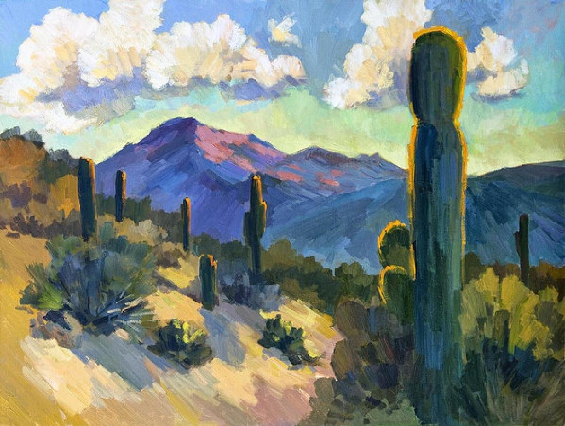 Late Afternoon Tucson Oil Painting