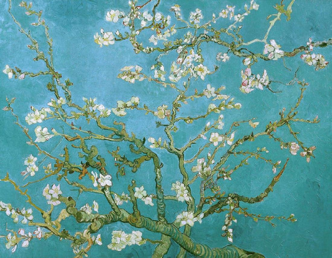 Van Gogh Blossoming Almond Tree Oil Painting