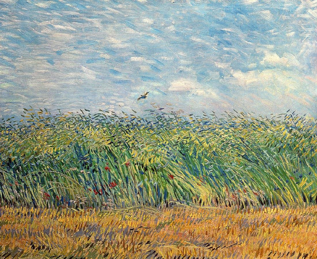 Wheatfield With Lark Oil Painting