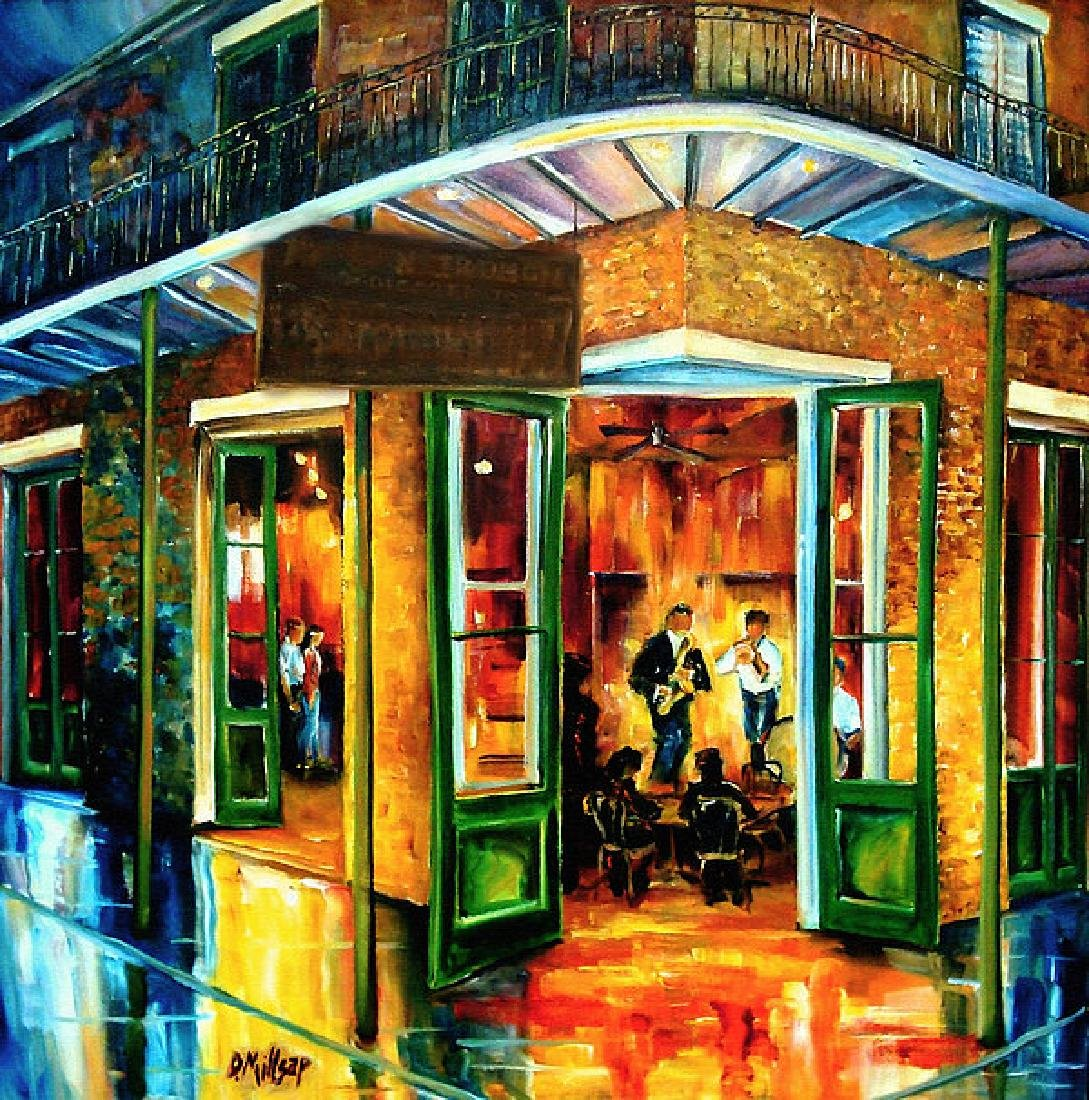Jazz At The Maison Bourbon Oil Painting