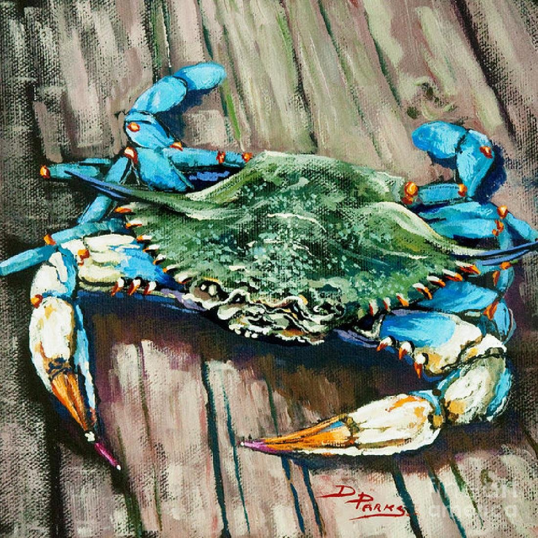 Crabof Blue Oil Painting