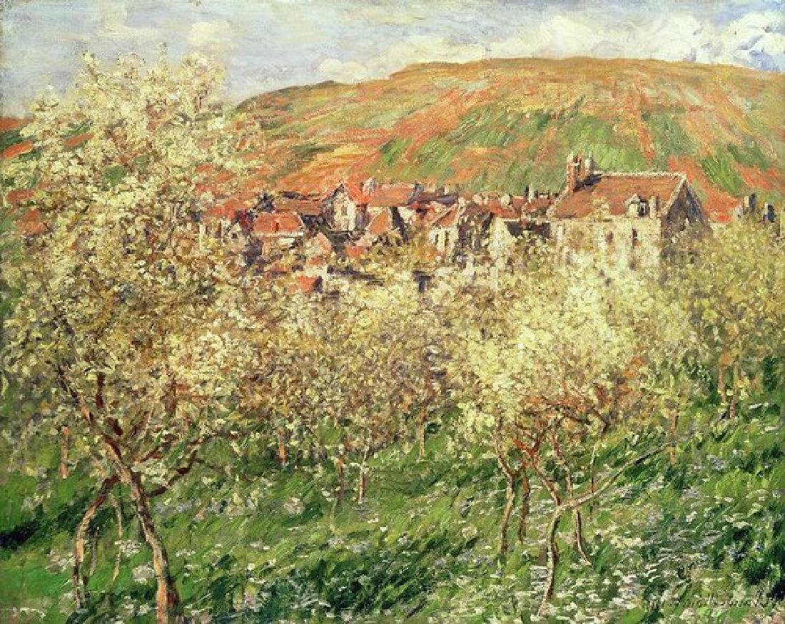 Apple Trees In Blossom Oil Painting