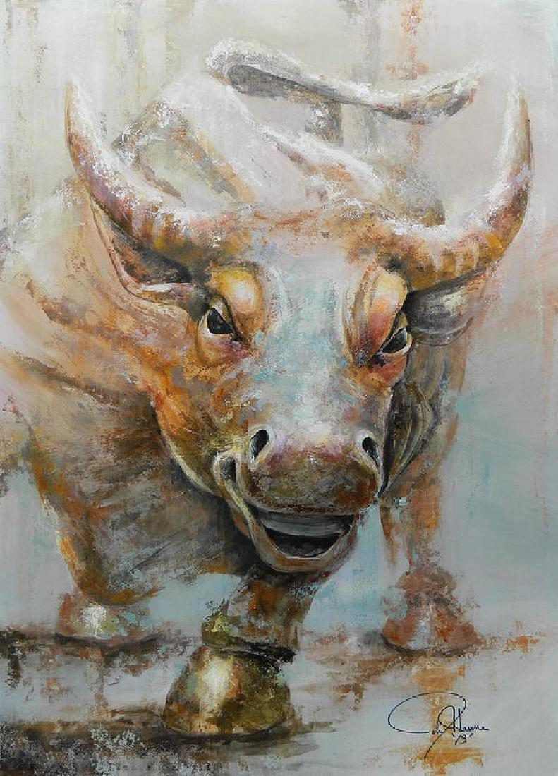 Bull Market W Redo Oil Painting