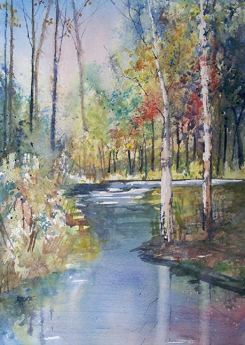 Hartman Creek Birches Oil Painting