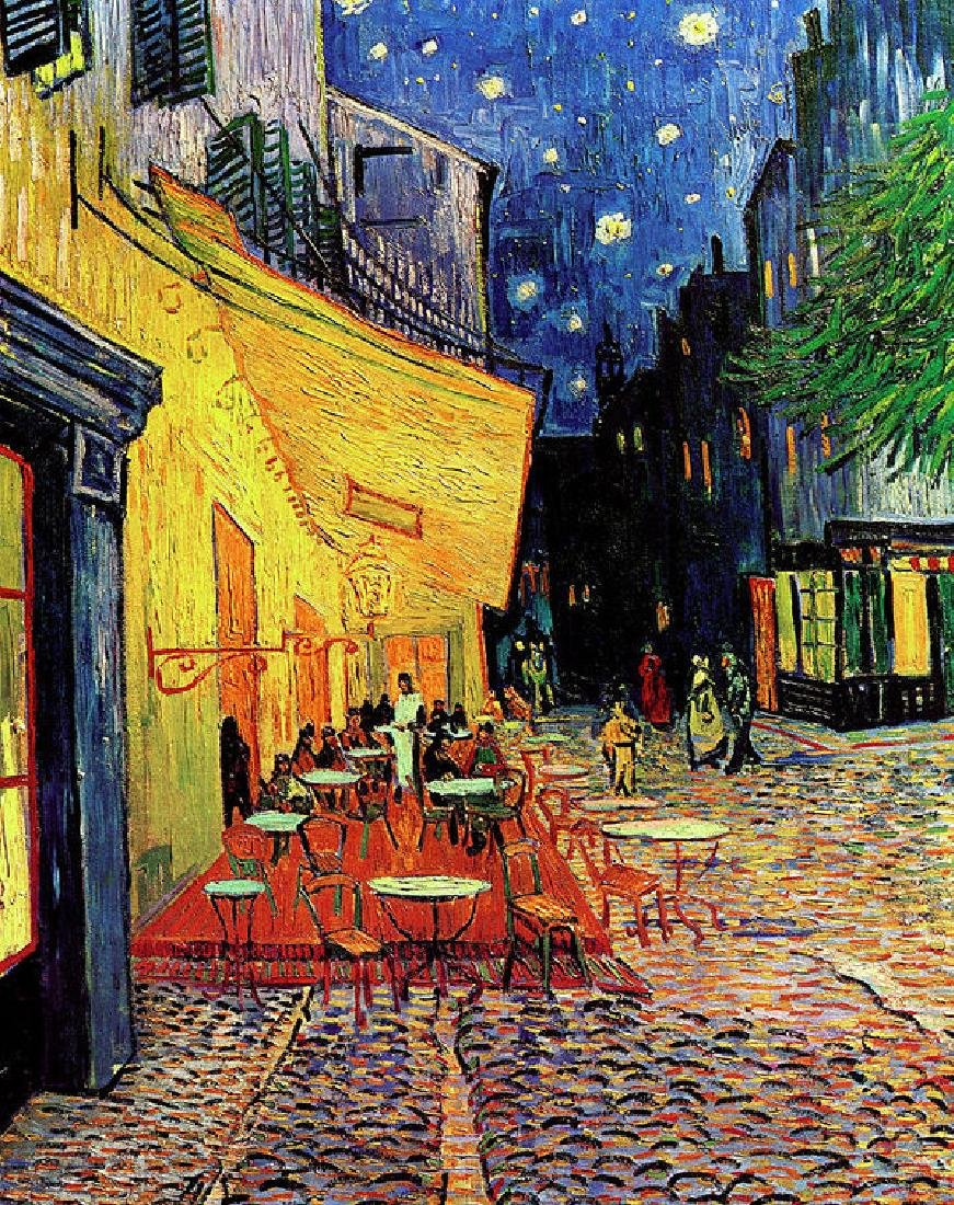 Van Gogh Cafe Terrace Place Du Forum At Night Oil
